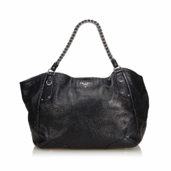 Prada Leather Chain Tote Bag