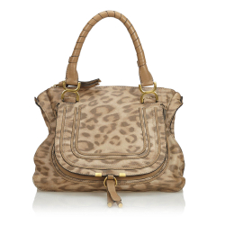 Chloé Leopard Print Leather Marcie Handbag