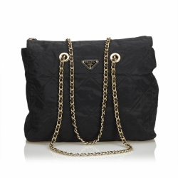 Prada Nylon Chain Tote Bag