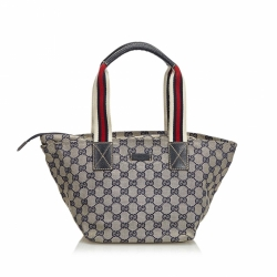 Gucci GG Web Canvas Handbag
