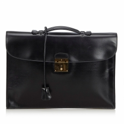Hermès Box Leather Quirus Business Bag