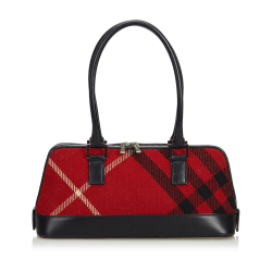 Burberry Plaid Felt Handbag