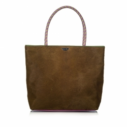 Christian Dior Pony Hair Masai Tote Bag