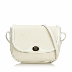 Burberry Leather Trimmed Crossbody Bag
