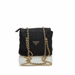 Prada Nylon Chain Crossbody Bag