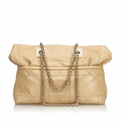 Christian Dior Cannage Leather Chain Shoulder Bag