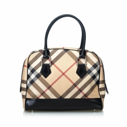 Burberry Nova Check Cotton Handbag
