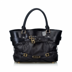 Burberry Leather Bridle Lynher Tote Bag