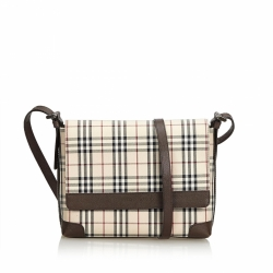 Burberry Plaid Cotton Crossbody Bag