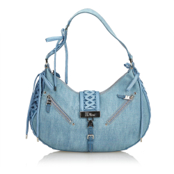 Christian Dior Denim Admit It Shoulder Bag