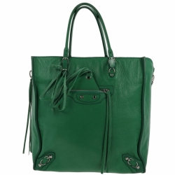 Balenciaga Papier A5 green bag