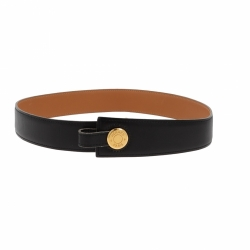 Hermès adjustable belt in black leather