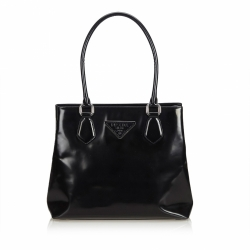 Prada Patent Leather Tote Bag