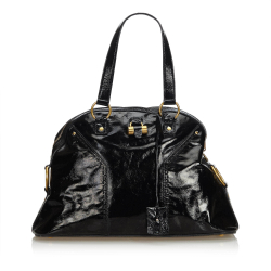 Yves Saint Laurent Patent Leather Muse Handbag