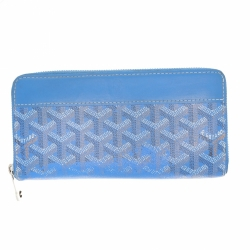 Goyard Blue Goyard Zippy wallet