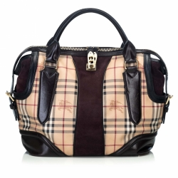 Burberry Haymarket Coated Canvas Handbag