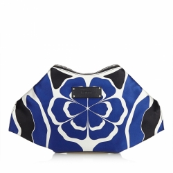 Alexander McQueen De Manta Union Jack Satin Clutch Bag