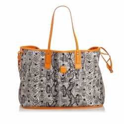 MCM Reversible Printed Canvas Tote Bag