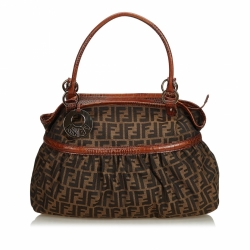 Fendi Zucca Canvas Chef Handbag
