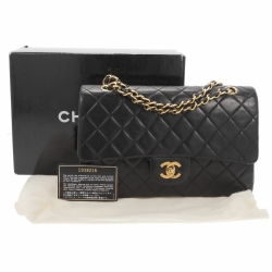 Chanel Timeless Double Flap Black Bag