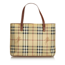 Burberry Haymarket Check Coated Canvas Handbag