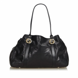 Gucci Leather Twin Tote Bag