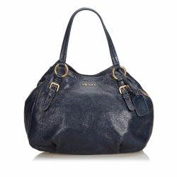 Prada Metallic Leather Cervo Hobo Bag