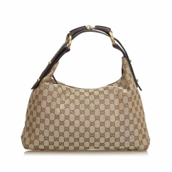Gucci GG Jacquard Horsebit Hobo Bag