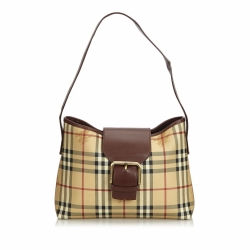 Burberry Haymarket Check Coated Canvas Shoulder Bag
