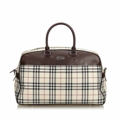 Burberry House Check Jacquard Travel Bag