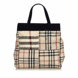 Burberry House Check Wool Handbag