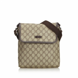 Gucci Coated Canvas GG Supreme Crossbody Bag