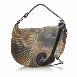 Fendi Leather Oyster Hobo Bag
