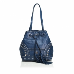 Prada Soft Calf Studded Bucket Bag