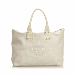 Prada Canapa Canvas Tote Bag