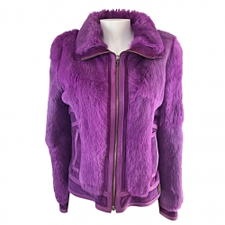 Galliano Purple fur jacket