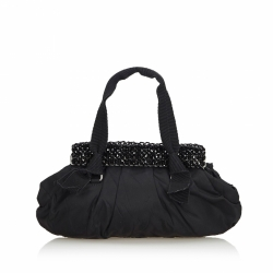 Prada Beaded Nylon Handbag