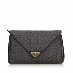 Yves Saint Laurent Woven Flap Clutch Bag
