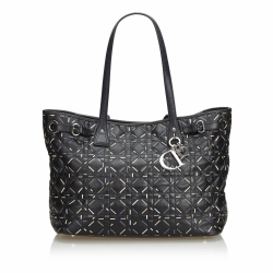 Christian Dior Cannage Coated Canvas Panerea Tote Bag