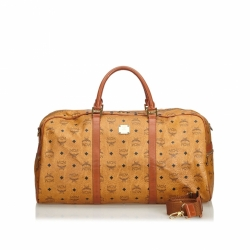 MCM Visetos Leather Duffle Bag
