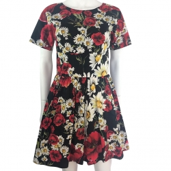 Dolce & Gabbana Poppies Cotton Dress