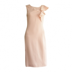 Emilio Pucci Pink jabot dress on the shoulder