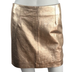 Bérénice Short straight skirt, gold plated
