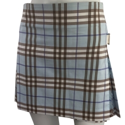 Burberry Blue and beige checkered skirt
