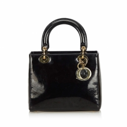 Christian Dior Oblique Patent Leather Lady Dior