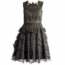 Red Valentino Swan skirt dress