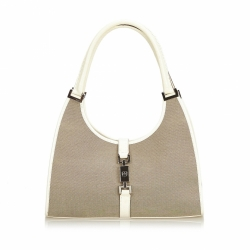 Gucci Canvas Jackie Shoulder Bag