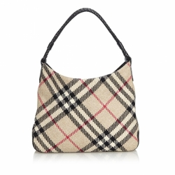 Burberry Nova Check Wool Shoulder Bag