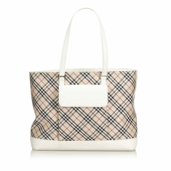 Burberry Nova Check Cotton Tote Bag