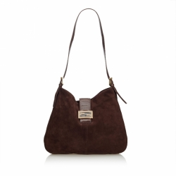 Fendi Suede Mamma Shoulder Bag